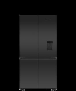 Freestanding Quad Door Refrigerator Freezer, 90.5cm, 690L, Ice & Water