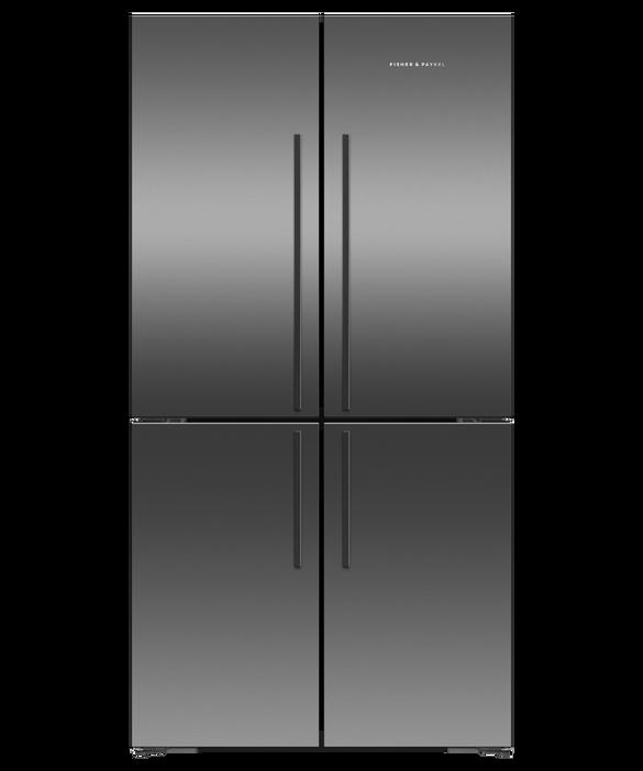 Freestanding Quad Door Refrigerator Freezer, 90.5cm, 605L, pdp