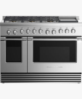 """Dual Fuel Range, 48"""", 6 Burners with Griddle"""