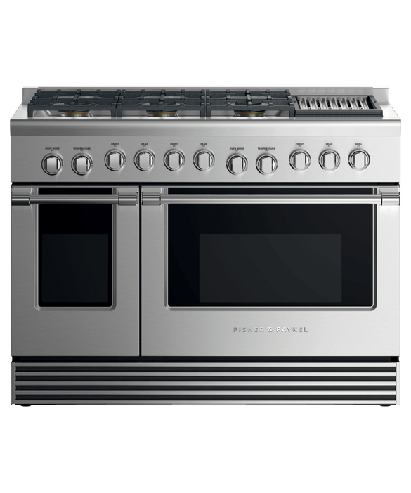 "Dual Fuel Range, 48"", 6 Burners with Grill, LPG, pdp"