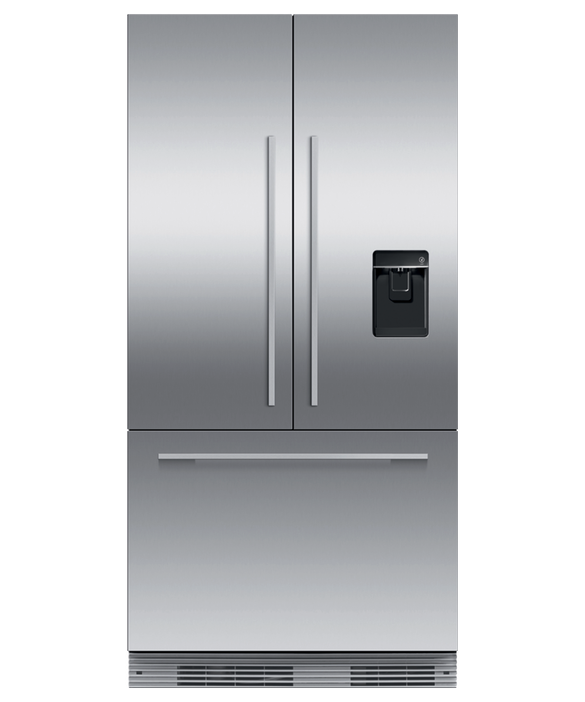 "Integrated French Door Refrigerator Freezer, 36"", Ice & Water, pdp"
