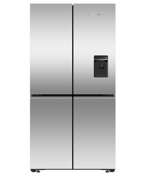 Freestanding Quad Door Refrigerator Freezer, 90.5cm, 538L, Ice & Water, pdp