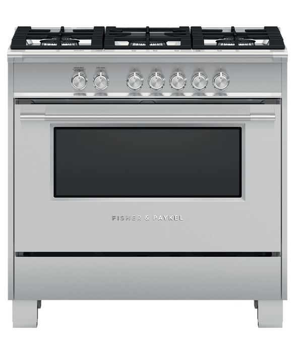 "Gas Range, 36"", 5 Burners, pdp"