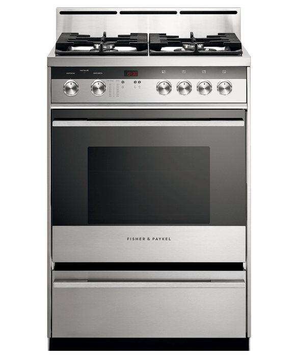 "Gas Range, 24"", 4 Burners, pdp"
