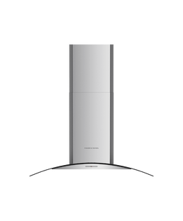 Wall Rangehood, 90cm, Chimney with Glass