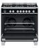 Freestanding Range Cooker, Dual Fuel, 90cm, 5 Burners, Self-cleaning gallery image 3.0