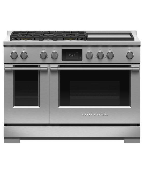 """Dual Fuel Range, 48"""", 5 Burners with Griddle, Self-cleaning, pdp"""
