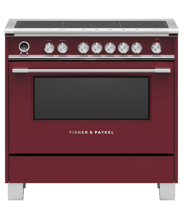 """Induction Range, 36"""", 5 Zones with SmartZone, Self-cleaning, pdp"""
