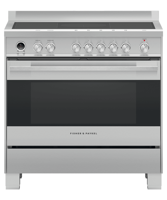 Freestanding Cooker, Induction, 90cm, 5 Zones with SmartZone, Self-cleaning, pdp