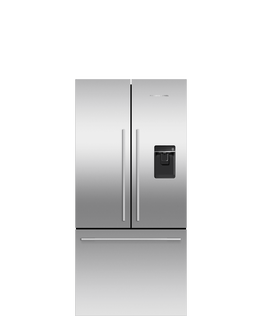 Freestanding French Door Refrigerator Freezer, 79cm, 519L, Ice & Water