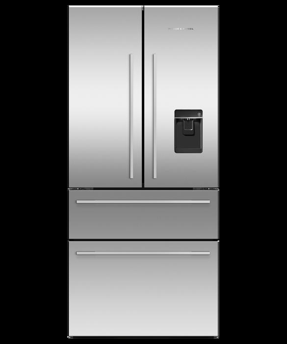 Freestanding French Door Refrigerator Freezer, 79cm, 475L, Ice & Water, pdp