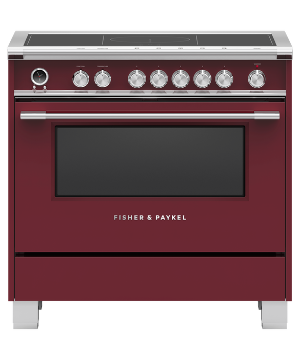 "Induction Range, 36"", 5 Zones with SmartZone, Self-cleaning, pdp"