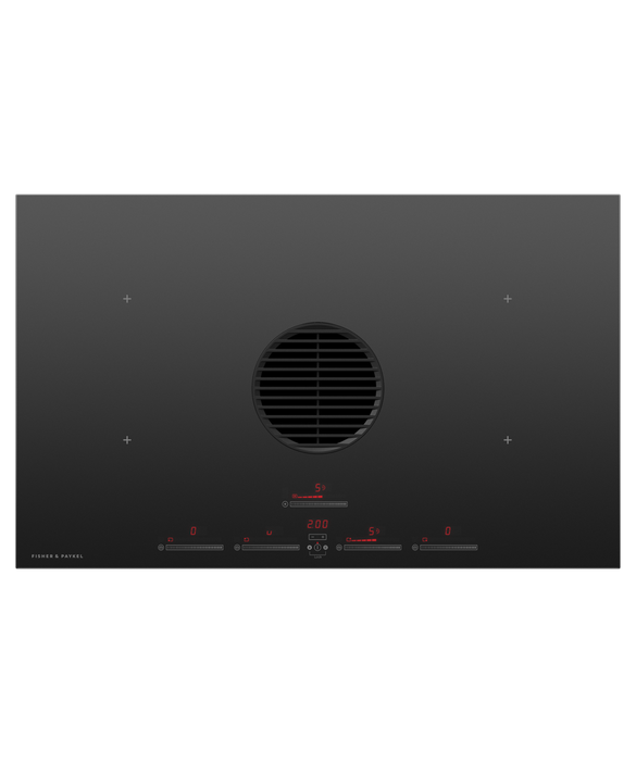 Induction Cooktop, 83cm, 4 Zones with Integrated Ventilation, pdp