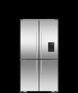 Freestanding Quad Door Refrigerator Freezer, 36
