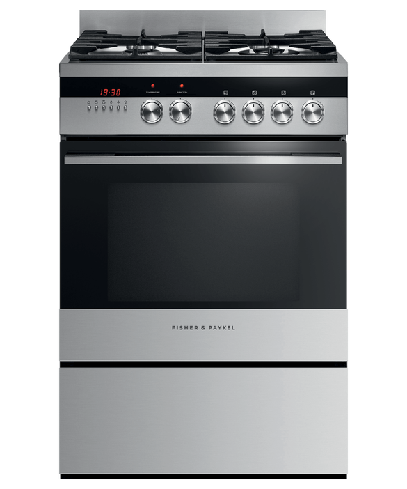 Freestanding Cooker, Dual Fuel, 60cm, 4 Burners, pdp