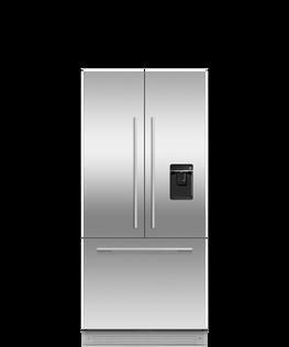 Integrated French Door Refrigerator Freezer, 80cm, Ice & Water