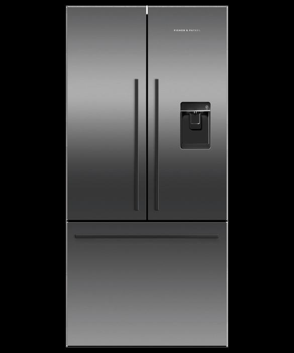 Freestanding French Door Refrigerator Freezer, 79cm, 519L, Ice & Water, pdp