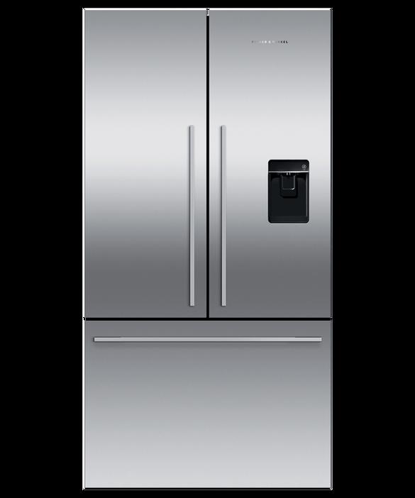 Freestanding French Door Refrigerator Freezer, 90cm, 569L, Ice & Water, pdp