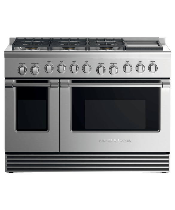 "Gas Range 48"", 6 Burners with Griddle, pdp"