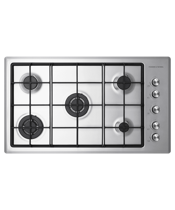 Gas on Steel Cooktop, 90cm, pdp