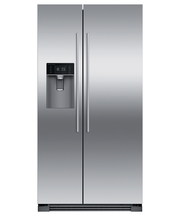 Freestanding Side by Side Refrigerator Freezer, 910mm, 610L, Ice & Water, pdp