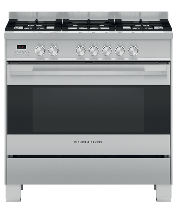 Freestanding Range Cooker, Dual Fuel, 90cm, 5 Burners, pdp