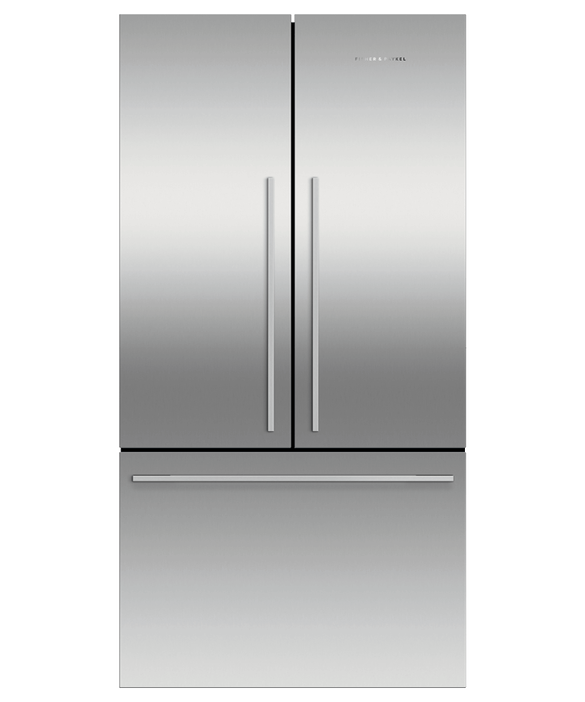 Freestanding French Door Refrigerator Freezer, 90cm, 614L, pdp