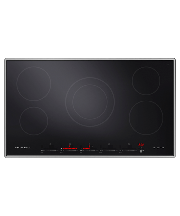 "Induction Cooktop, 36"", 5 Zones, pdp"