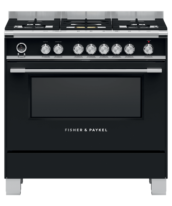 Freestanding Range Cooker, Dual Fuel, 90cm, 5 Burners, Self-cleaning, pdp