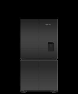 Freestanding Quad Door Refrigerator Freeze, 90.5cm, 605L, Ice & Water