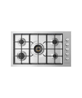 """Gas on Steel Cooktop, 36"""", Flush Fit"""