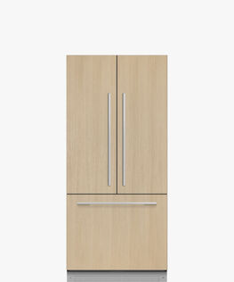 Integrated French Door Refrigerator, 80cm