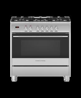 Freestanding Cooker, Dual Fuel, 90cm, 5 Burners