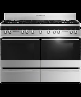 Freestanding Cooker, Dual Fuel, 120cm, 6 Burners