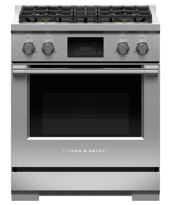 "Dual Fuel Range, 30"", 4 Burners, Self-cleaning, LPG, pdp"