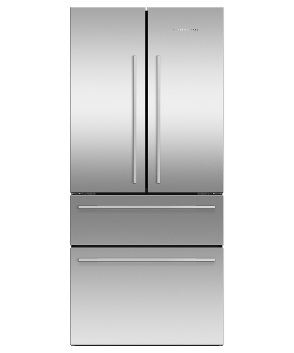 Freestanding French Door Refrigerator Freezer, 79cm, 523L, Ice & Water, pdp