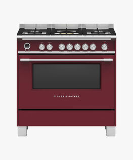Freestanding Cooker, Dual Fuel, 90cm, 5 Burners, Self-cleaning