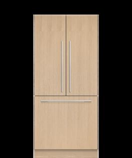 "Integrated French Door Refrigerator Freezer, 36"", Ice, hi-res"