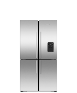 Freestanding Quad Door Refrigerator Freezer, 36