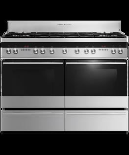 Freestanding Range Cooker, Dual Fuel, 120cm, 6 Burners