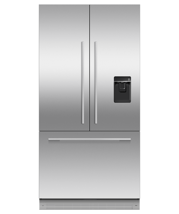 """Integrated French Door Refrigerator Freezer, 36"""", Ice & Water, pdp"""