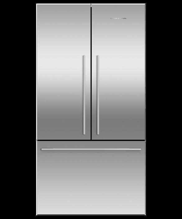 Freestanding French Door Refrigerator Freezer, 90cm, 541L, pdp