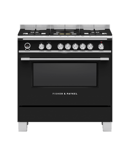 Freestanding Range Cooker, Dual Fuel, 90cm, 5 Burners, Self-cleaning