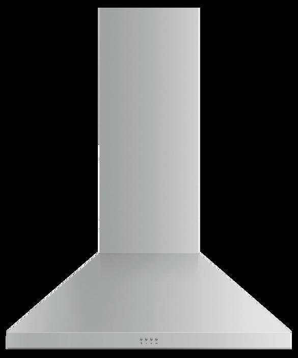 """Wall Range Hood, 36"""", Pyramid Chimney, pdp"""