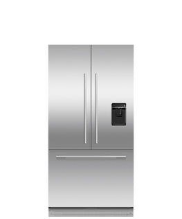 Integrated French Door Refrigerator Freezer, 90cm, Ice & Water