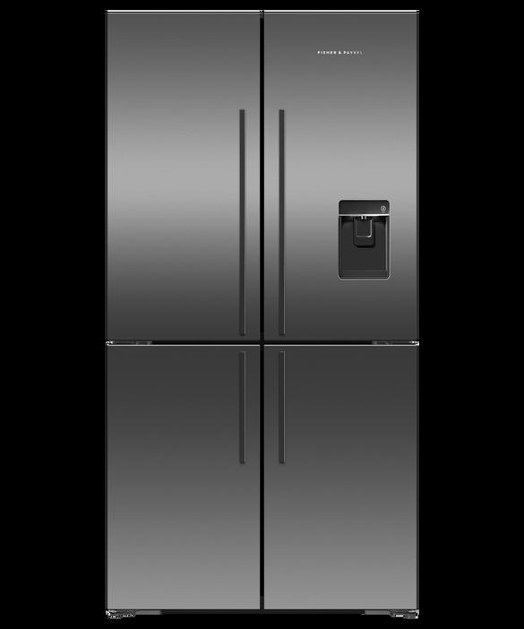 Freestanding Quad Door Refrigerator Freezer, 90.5cm, 605L, Ice & Water, pdp