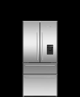 Freestanding French Door Refrigerator Freezer, 79cm, 475L, Ice & Water
