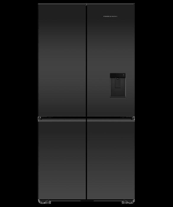 Freestanding Quad Door Refrigerator Freezer, 690L, Ice & Water, pdp