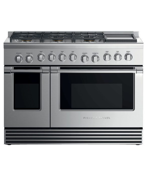 "Dual Fuel Range, 48"", 6 Burners with Griddle, LPG, pdp"