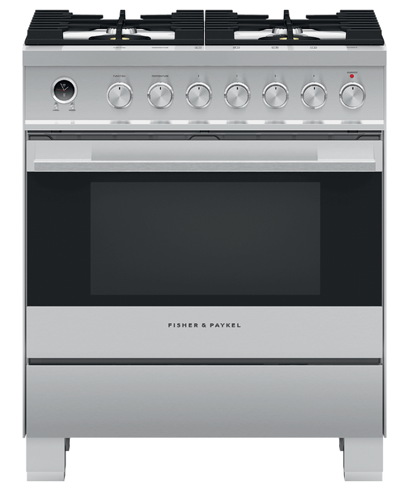 "Dual Fuel Range, 30"", 4 Burners, Self-cleaning, pdp"